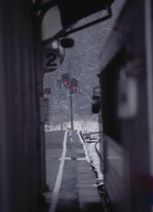 雪の駅の写真素材 [FYI03839300]