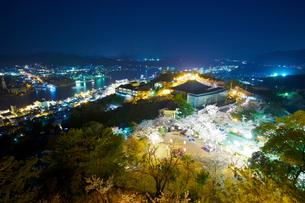 尾道市 千光寺公園 夜桜の写真素材 [FYI03839903]