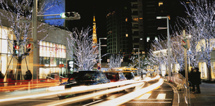 けやき坂通りのイルミネーションと東京タワー 港区 東京都の写真素材 [FYI03840577]