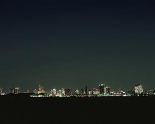 東京湾から望む臨海副都心と六本木の写真素材 [FYI03840716]