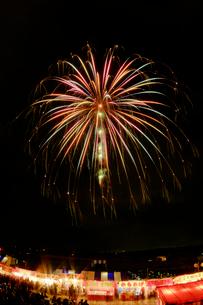 長野えびす講煙火大会全国十号玉新作コンテストのパステルの花の写真素材 [FYI03841400]