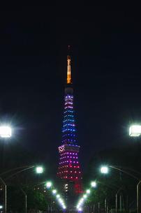 東京タワーライトアップ(ダイヤモンドヴェール)クリスマス夜景の写真素材 [FYI03841433]