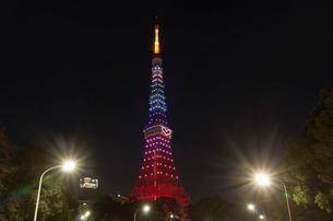 東京タワーライトアップ(ダイヤモンドヴェール)クリスマス夜景の写真素材 [FYI03841435]