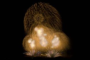 いせはら芸術花火大会のグランドフィナーレメロディ花火の写真素材 [FYI03841607]