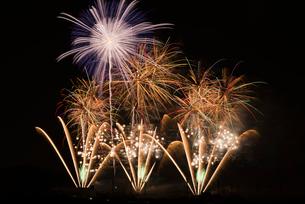 いせはら芸術花火大会のグランドフィナーレメロディ花火の写真素材 [FYI03841612]
