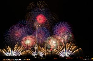 土浦全国花火競技大会で大会提供「土浦花火づくし」の写真素材 [FYI03841875]