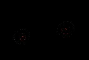 常総きぬ川花火大会 イメージ花火 夜空のアラカルト 笑顔開口の写真素材 [FYI03842160]