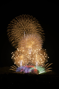 いせはら芸術花火大会 グランドフィナーレ メロディー花火の写真素材 [FYI03842477]