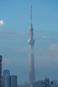 朝雲の中の東京スカイツリー先塔の写真素材 [FYI03844345]