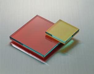 赤と黄色のコンポジションの写真素材 [FYI03844889]