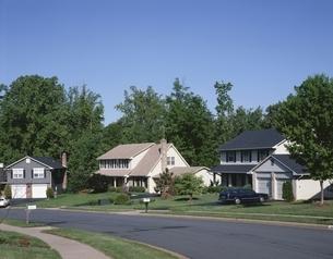 ワシントンDC郊外の住宅 バージニア州 アメリカの写真素材 [FYI03845364]