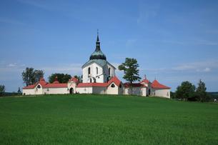 ネポムークの聖ヨハネ巡礼教会の写真素材 [FYI03845761]