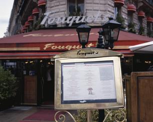 カフェのメニュー パリ フランスの写真素材 [FYI03846175]