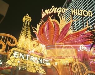 ラスベガスの夜景  アメリカの写真素材 [FYI03846418]