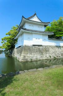 新緑の二条城 東南隅櫓の写真素材 [FYI03846759]