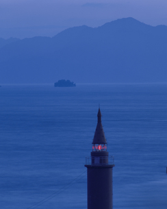 夜の宇品灯台 広島市 広島県の写真素材 [FYI03847649]