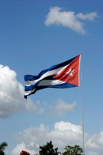 キューバの国旗の写真素材 [FYI03848179]
