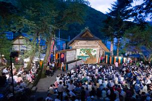 国指定有形民俗文化財 檜枝岐歌舞伎の写真素材 [FYI03848481]