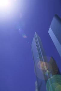 そそり立つビルと太陽 ロサンゼルス アメリカの写真素材 [FYI03848582]