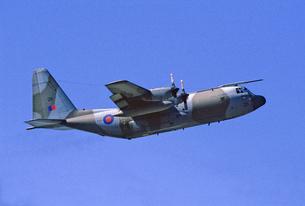 イギリス空軍ロッキードC130ハーキュリーズ輸送機の写真素材 [FYI03848899]