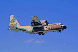 イスラエル空軍ロッキードC130ハーキュリーズ輸送機の写真素材 [FYI03848961]