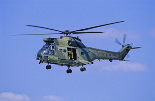 イギリス空軍ピューマ・ヘリコプターの写真素材 [FYI03848993]