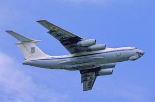 ウクライナ空軍イリューシン76キャンディッド輸送機の写真素材 [FYI03848994]