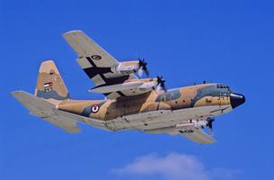 ヨルダン空軍ロッキードC130ハーキュリーズ輸送機の写真素材 [FYI03848996]