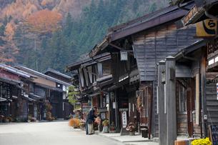 奈良井宿の家並みの写真素材 [FYI03849008]