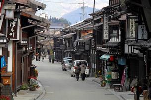 奈良井宿の町並みの写真素材 [FYI03849013]