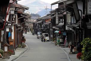 奈良井宿の町並みの写真素材 [FYI03849015]