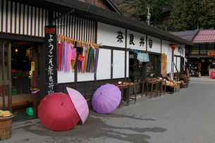 奈良井宿の土産物屋の写真素材 [FYI03849023]