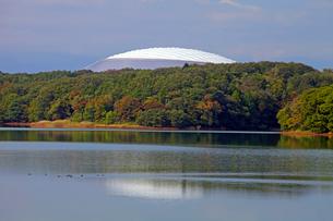 西武ドームと多摩湖の写真素材 [FYI03849231]