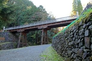 八王子城跡 曳橋の写真素材 [FYI03849342]