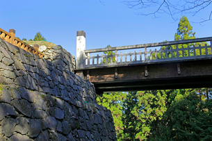 八王子城跡 曳橋の写真素材 [FYI03849349]