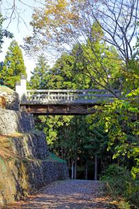 八王子城跡 曳橋の写真素材 [FYI03849350]