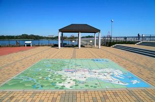 村山貯水池 広場の東京都水道地図の写真素材 [FYI03849372]