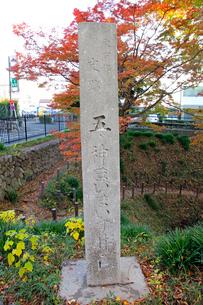 五ノ神 まいまいず井戸 石柱の写真素材 [FYI03849379]