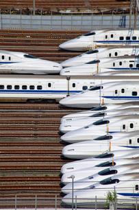 大井車両基地の東海道新幹線の写真素材 [FYI03849556]