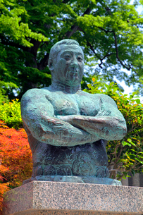 池上本門寺 力道山の胸像の写真素材 [FYI03849614]