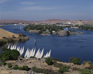 ナイル川とアスワン市街  エジプトの写真素材 [FYI03849750]