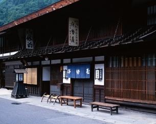 中山道の奈良井宿 長野県の写真素材 [FYI03849784]