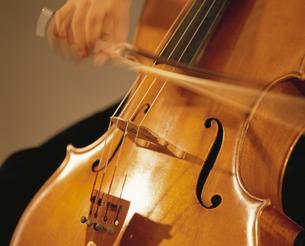 チェロを演奏する人物の手の写真素材 [FYI03849905]
