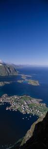北ノルウェーのレイネの展望の写真素材 [FYI03850344]