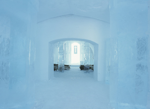 ユッカスヤルビのアイスホテル スウェーデンの写真素材 [FYI03850357]