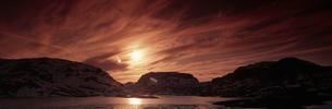 山並み夕景  ヴェストランド ノルウェーの写真素材 [FYI03850374]