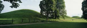 バイキング 古墳  ウプサラ スウェーデンの写真素材 [FYI03850375]