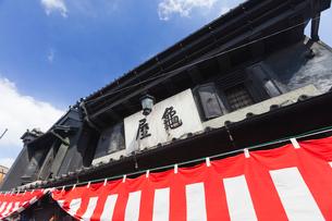川越祭りの幕の写真素材 [FYI03850673]
