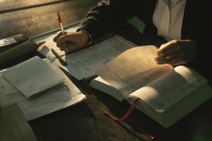 学校で勉強をする人の写真素材 [FYI03850759]