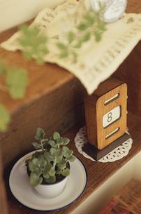 鉢植えとカレンダーの写真素材 [FYI03850790]